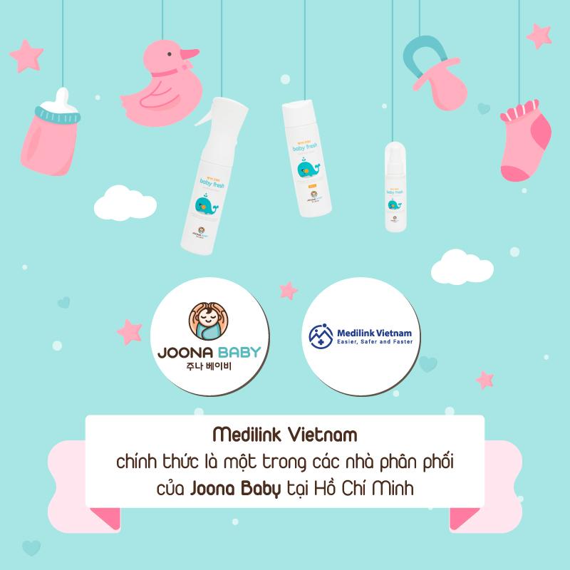 Medilink đối tác chiến lược trong việc cung cấp sản phẩm chai xịt kháng khuẩn Baby Fresh